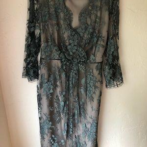 Marina Rinaldi lace cocktail dress